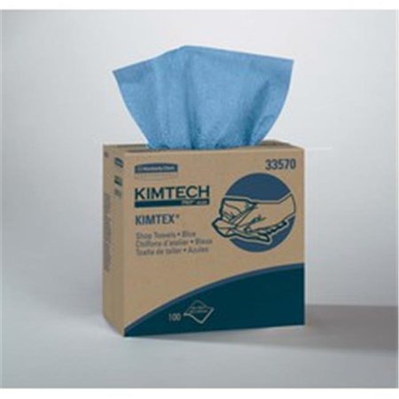 8.8 x 16.8 in. Pop-Up Box Kimtex Wipers, Blue - 100 Per Box, 5 Box Per Case