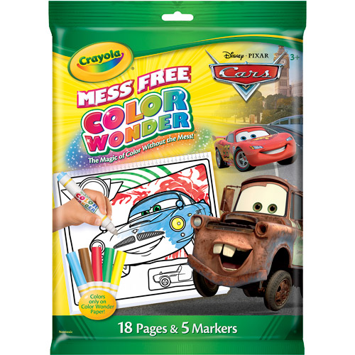 Crayola Color Wonder Disney Cars Drift Includes 18 Coloring Pages and 5 Color Wonder Mess Free Markers