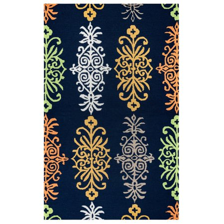 Rizzy Home Azzura Hill Ah9963 00 / Teal Area Rug 3 Feet 6 Inches x 5 Feet 6 (5 Feet And 6 Inches In Cm)
