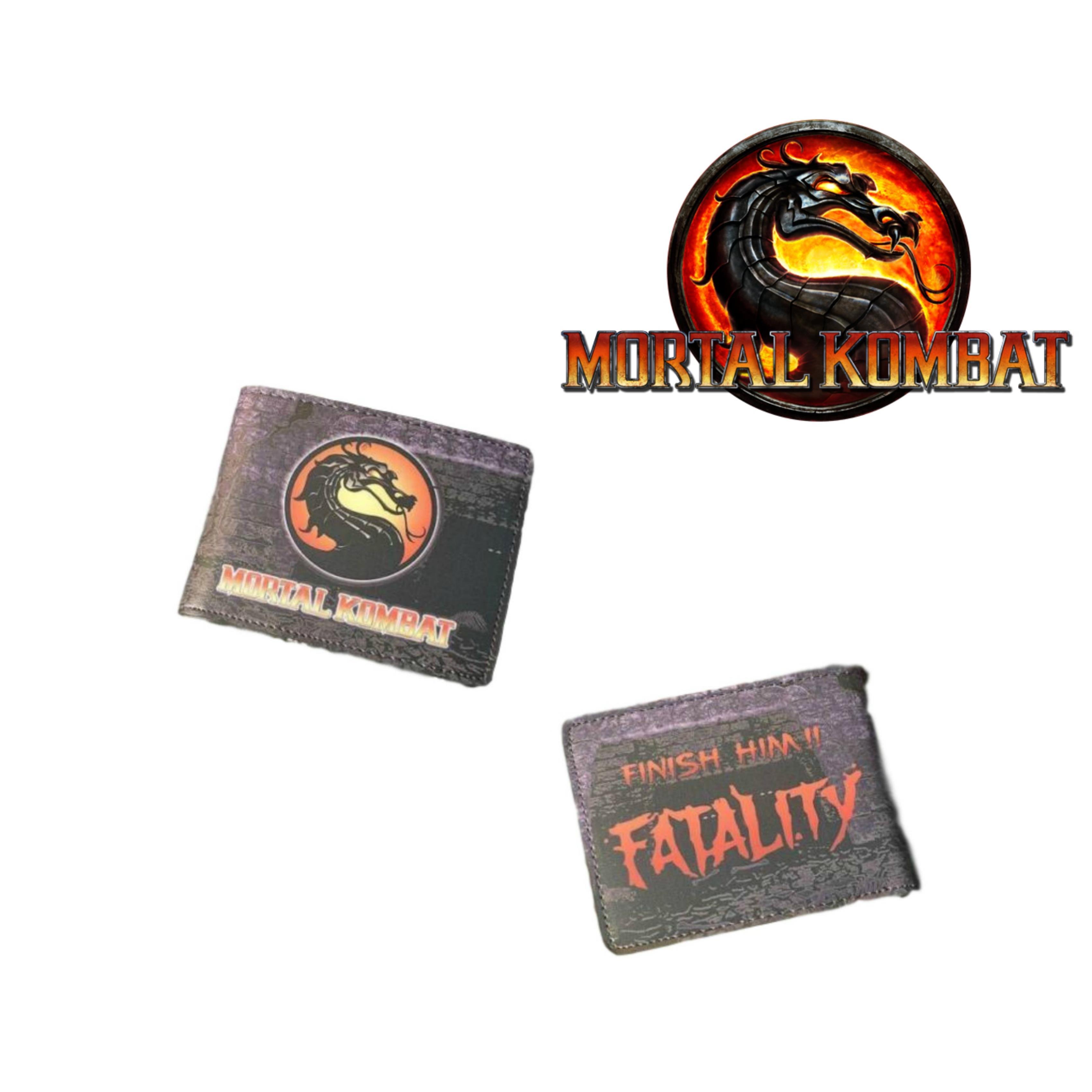 Superheroes Mortal Kombat Logo Bi-fold Mens Boys Wallet with Gift Box