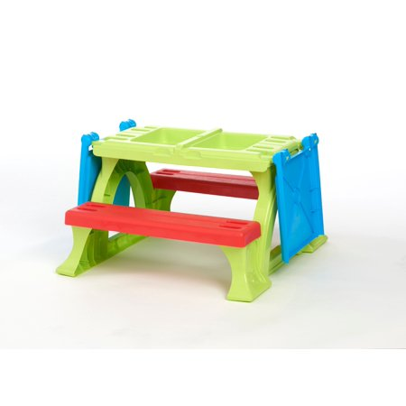 Play Day Kids Plastic Play Table (Childs Picnic Table)