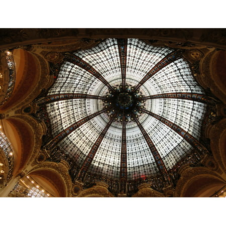 LAMINATED POSTER Shopping Stained Paris Dome Style France Poster Print 24 x