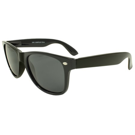 MLC EYEWEAR Polarized Classic Retro Horn Rimmed Sunglasses - (Retro Rewind Classic Polarized Sunglasses)