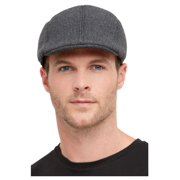 Gray 1920's Style Gangster Men Adult Halloween Flat Cap Costume Accessory - One Size