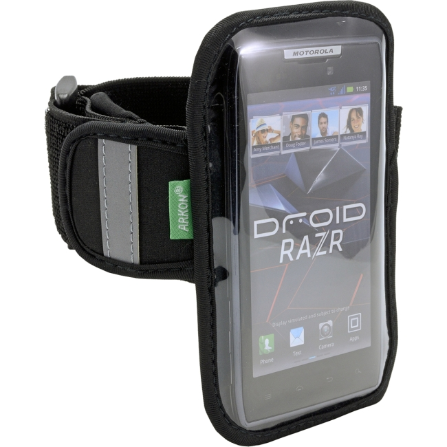 ARKON Carrying Case for Smartphone - Clear, Black - Armband