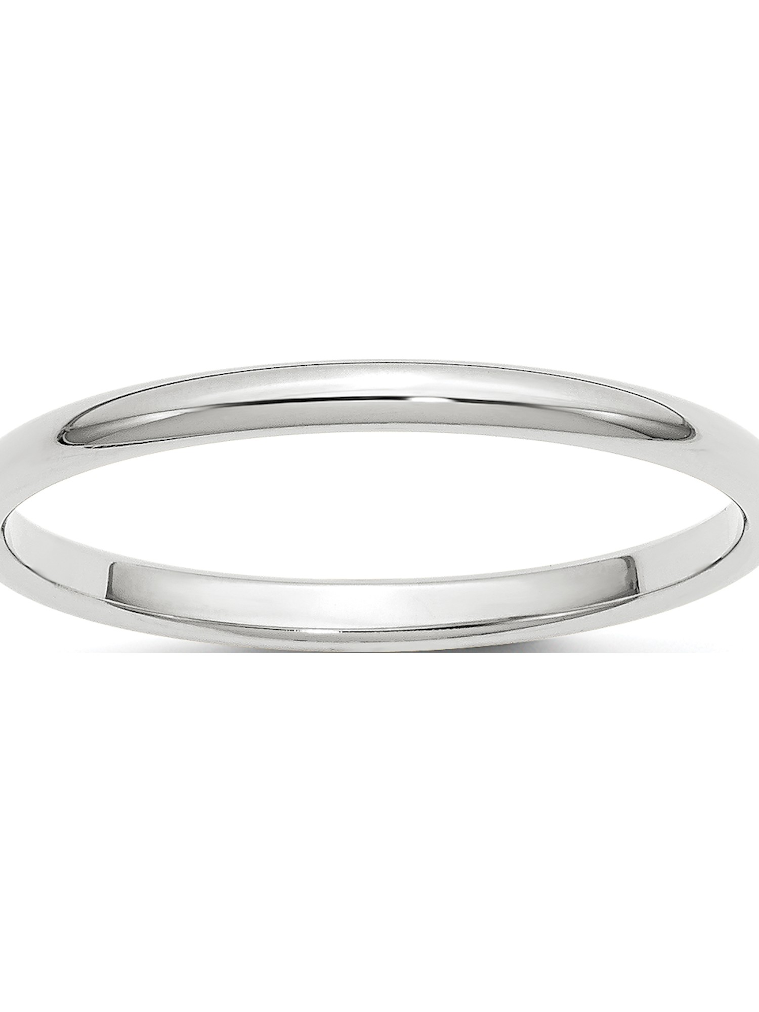 10KY 4mm Half Round Band Size 8.5 Size 8.5 Length Width 4