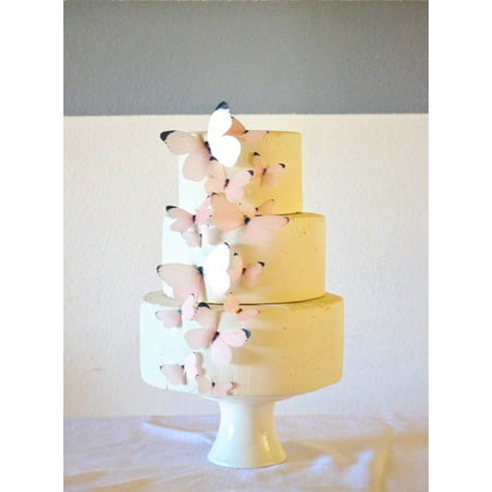 Edible Butterflies - Baby Pink Set of 15 - Cake and Cupcake Toppers, Decoration (Bow Cupcake Decorations)