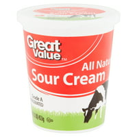 Great Value All Natural Sour Cream, 16 oz