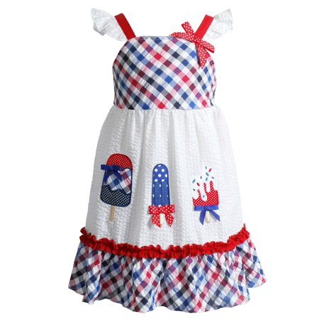 Retro Girls (Youngland Little Girls Retro Patriotic Ice Cream Pop Sundress)