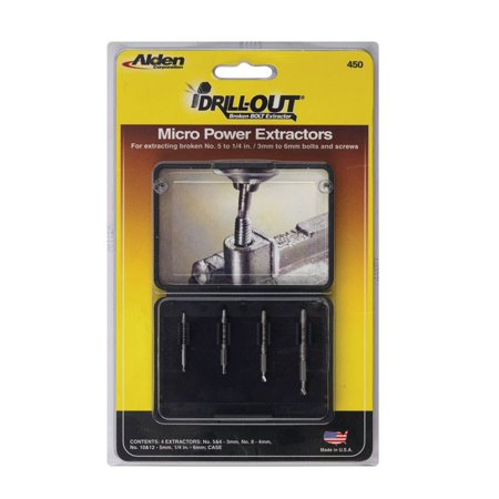 - Alden Grabit Micro 4 pc. Multi Size Double Ended Bolt Extractor Set
