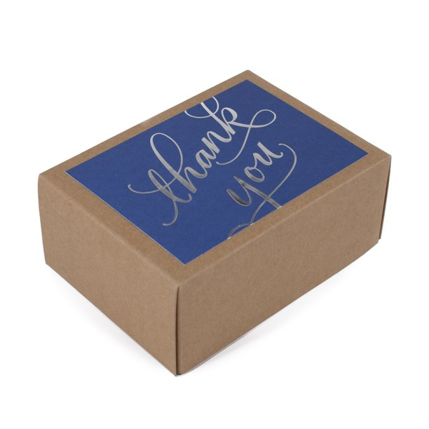 Hallmark Thank You Notes (Silver Foil Script, 40 Cards and Envelopes)