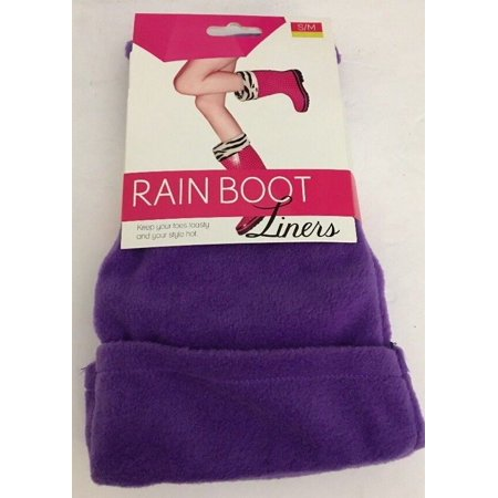 Rain Boot Liners-PURPLE Size S/M 5-7-Keep Your Toes Toasty & Style Hot-SHIPS N24