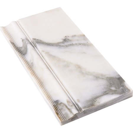 Marbletiledirect Calacatta Verde White Marble 6 x 12 x 3/4-inch Molding