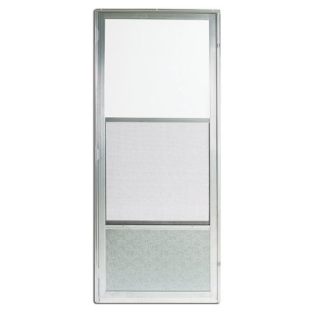 Croft Reversible Self-Storing Storm Door Self-Storing Imperial Style 161 36 in. x 80 in. Aluminum Re