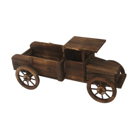 - 37 in. Long Wooden Pickup Truck Planter - Large