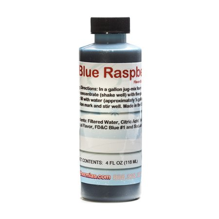 Blue Raspberry Shaved Ice and Snow Cone Flavor Concentrate 4 Fl Ounce - Sno Cone Syrup