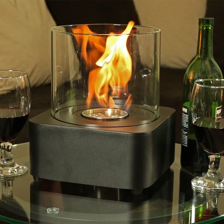 Sunnydaze Cilindro Ventless Bio Ethanol Tabletop Fireplace - Options Available