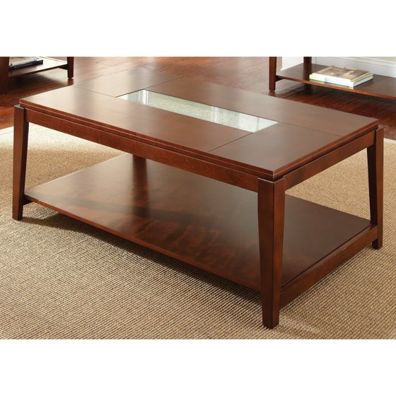 Greyson Living Juliana Cracked Glass Inset Coffee Table By