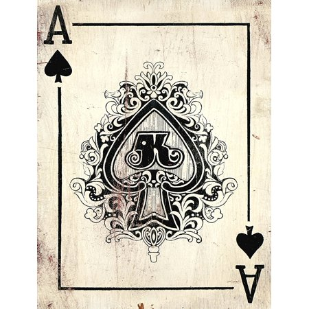 Barnyard Designs Ace Of Spades Retro Vintage Tin Bar Sign Country Home Decor 11  X 13