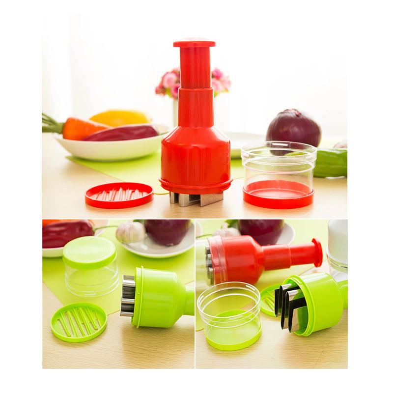 Handheld Vegetable Cutter Slicer Garlic Onion Pepper Ginger Peeler Dicer Pressing Food... by