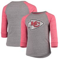 3a7b994c1 Product Image Kansas City Chiefs NFL Pro Line by Fanatics Branded Youth  Tri-Blend Raglan Long Sleeve