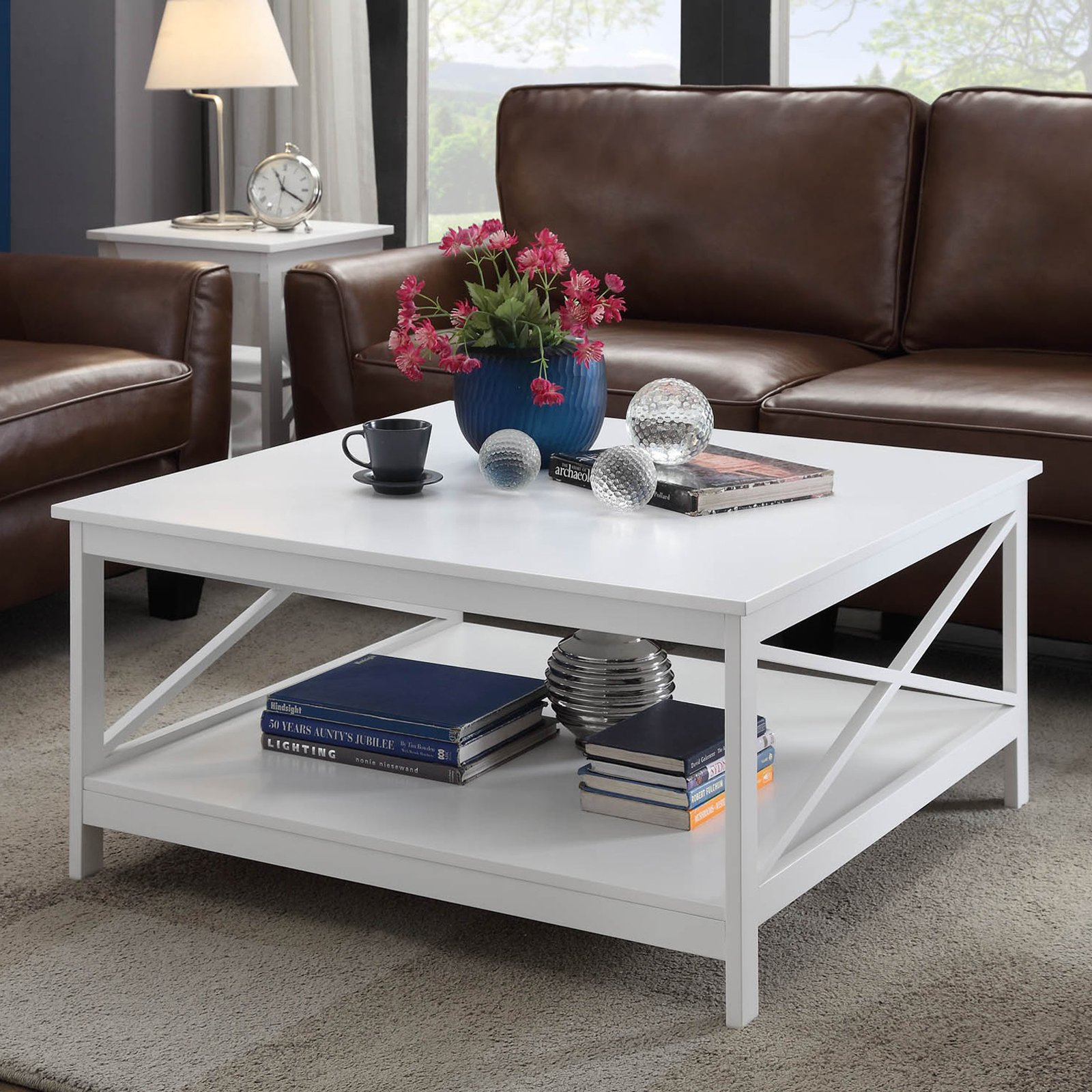"""Convenience Concepts Oxford 36"""" Square Coffee Table, Mutliple Colors"""