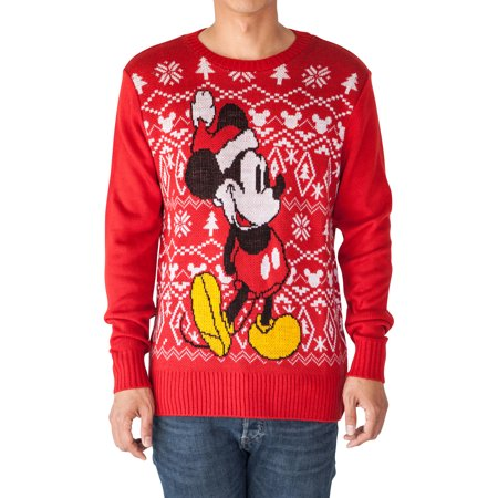 disney mickey mouse mens knitted christmas sweater red - Mickey Mouse Christmas Sweater