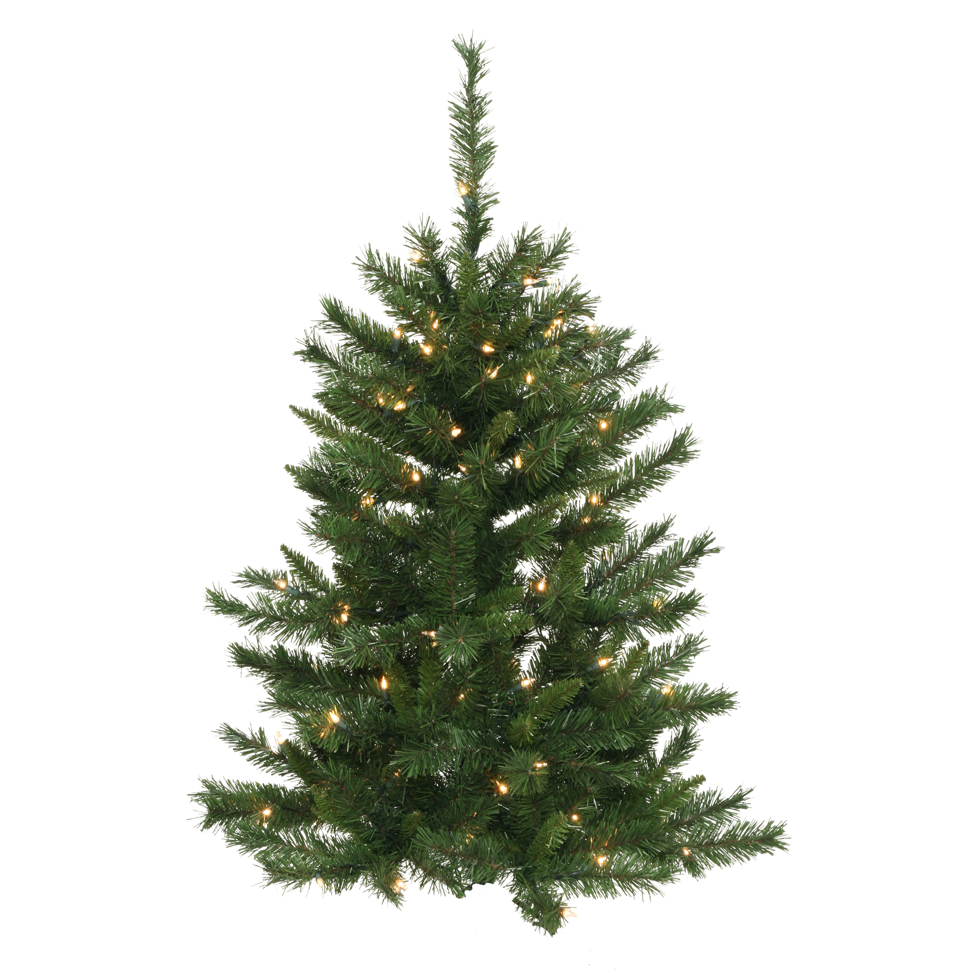 "Vickerman Artificial Christmas Tree 4' x 32"" Imperial Wall Tree Dura-Lit 50 Clear Lights"