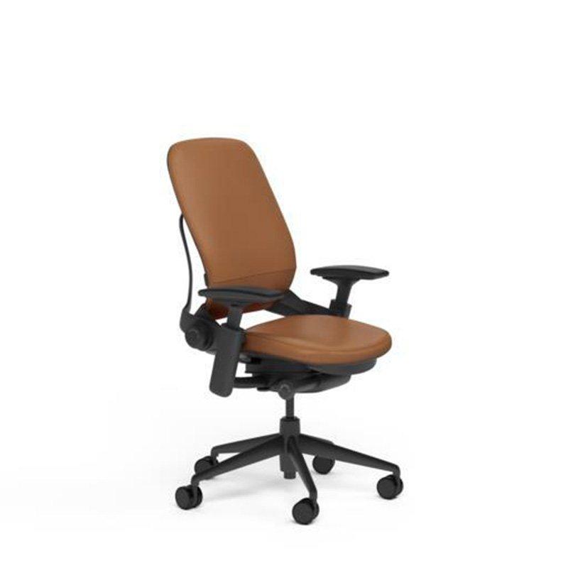 SC Leap Chair Blk Mahogany Lthr