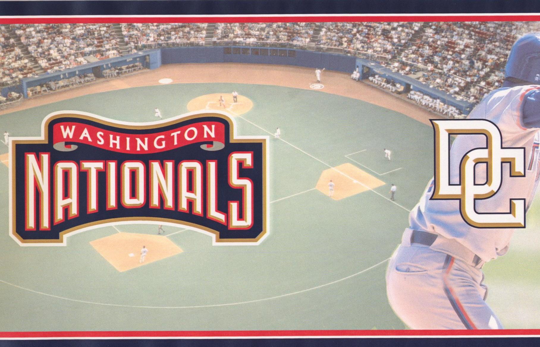 Washington Nationals Mlb Baseball Team Fan Sports Wallpaper Border Modern Design Roll 15 X 6 Walmart Canada