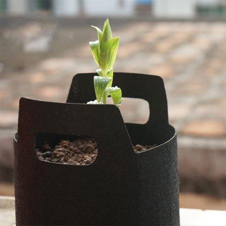 Gallon Black Fabric Aeration Grow Pots Breathable Planter Container Bags Vegetable Plant Growth Bag Black 1Gallon (18D*15H)