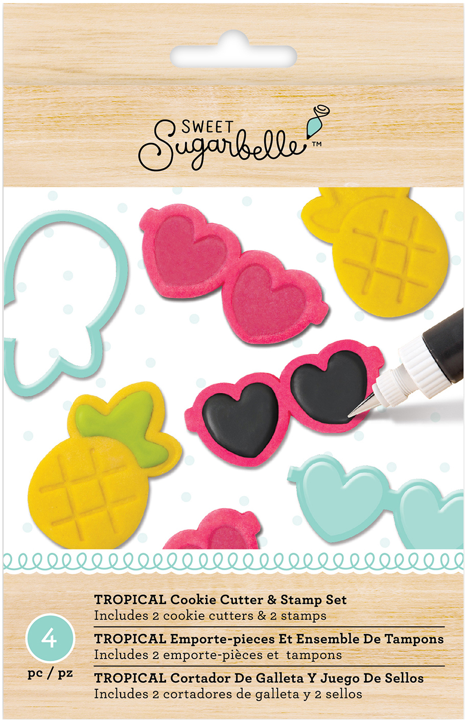 American Crafts Sweet Sugarbelle Specialty Cookie Cutter Set 4 Pkg-Tropical by American Crafts