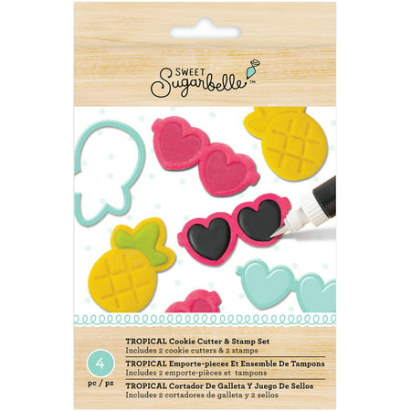 American Crafts Sweet Sugarbelle Specialty Cookie Cutter Set 4/Pkg-Tropical