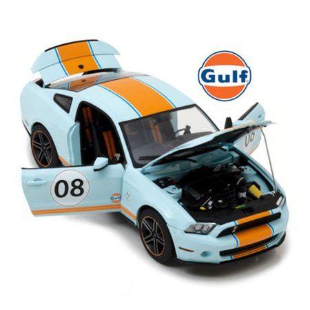 GREENLIGHT 1:18 GULF OIL - 2012 FORD MUSTANG SHELBY GT500 #08 COLLECTION MODEL 12990 DIECAST BLUE (Shelby Gt500 Model)