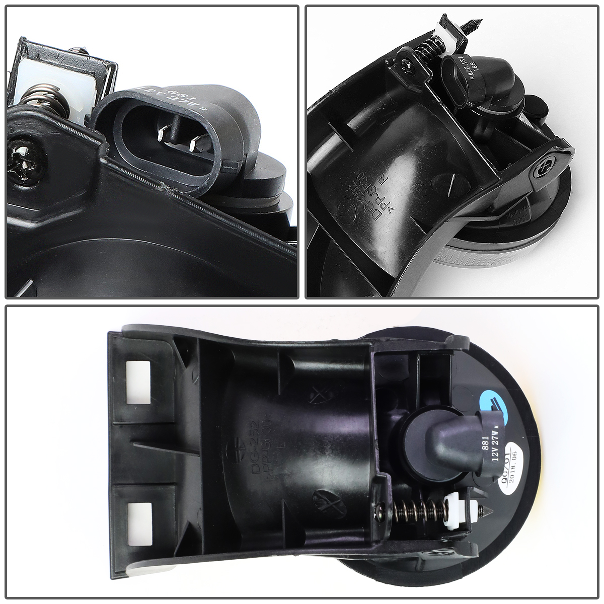 For 94-98 Ram 1500//2500//3500, Pair DNA Motoring FL-ZTL-270-AM Amber Lens Bumper Fog Light