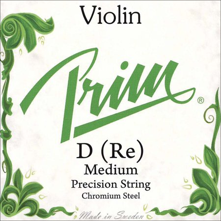 Prim 4/4 Violin D String - Medium Gauge - Chromesteel Wound Steel Core - Ball