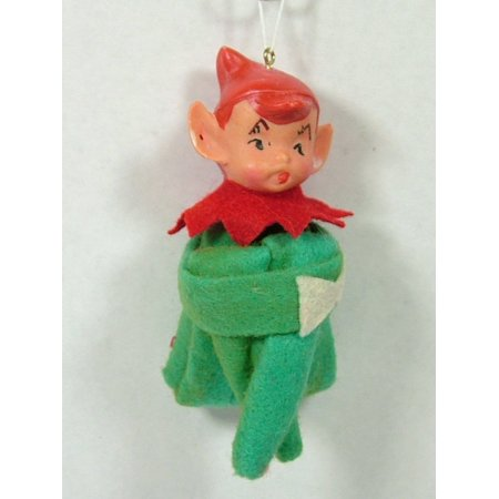 1940s vintage style green elf on a shelf doll good boy girl