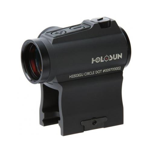 Holosun Technologies Micro Red Dot, 2MOA Dot Only or a 2MOA Dot with 65MOA Cirlcle, Side Battery, Includes Low and 1/3 C