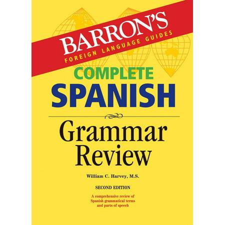 Complete Spanish Grammar Review - Grammar Review Games