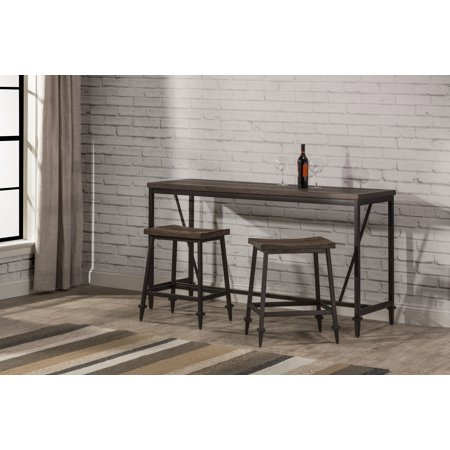 - Hillsdale Furniture Trevino 3-Piece Counter Height Table/Bar Set