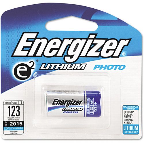 Energizer e2 Lithium Photo Battery, 123, 3V