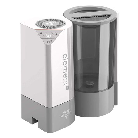 Square In The Air - Vornado Element S 1,000 Square Feet Coverage Air + Steam Home Humidifier, Silver