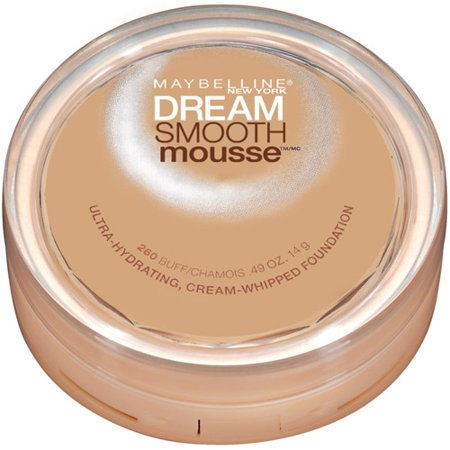 - Maybelline Dream Smooth Mousse Cream Whipped Foundation, Buff