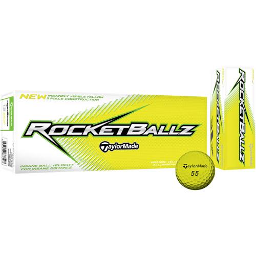 TaylorMade RocketBallz Golf Balls, 12pk, Yellow