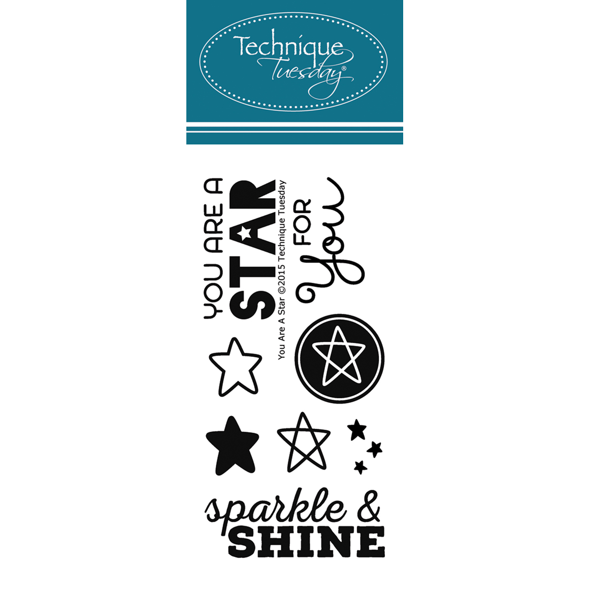 """Technique Tuesday YOUAR  Clear Stamps 2""""X4""""-You Are A Star"""