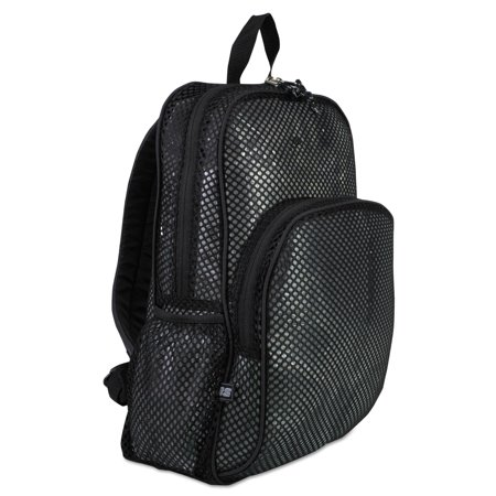 "Eastsport Mesh Backpack, 12"" x 17-1/2"" x 5-1/2"", Black"