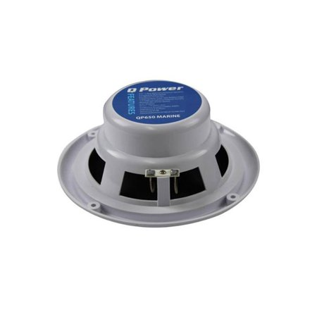 Q Power MARINE 6.5 Inch Waterproof Marine, Boat, and Car Speakers 120W,