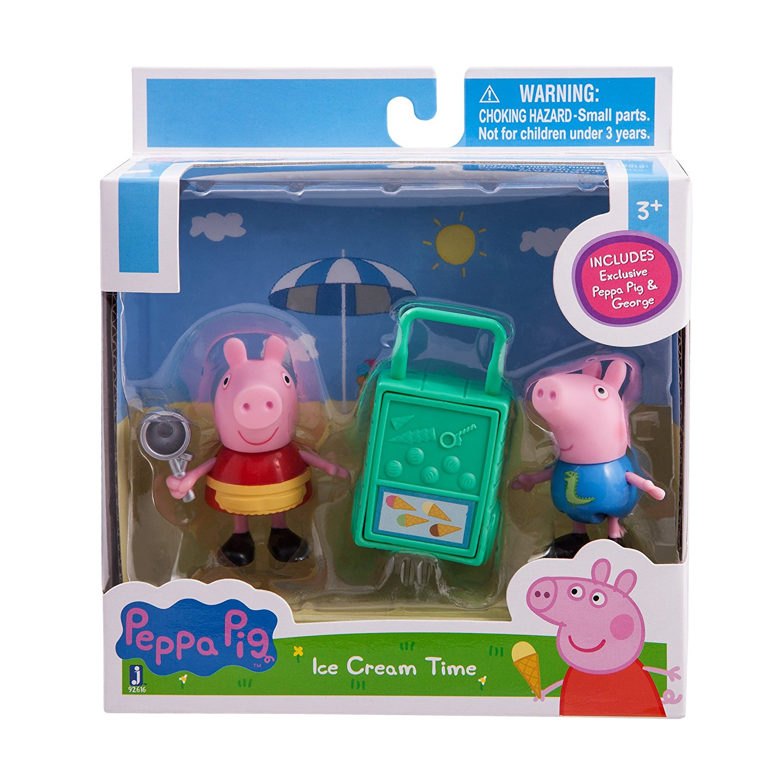 Peppa Pip Peppa and George Ice Cream Time Figures Pack