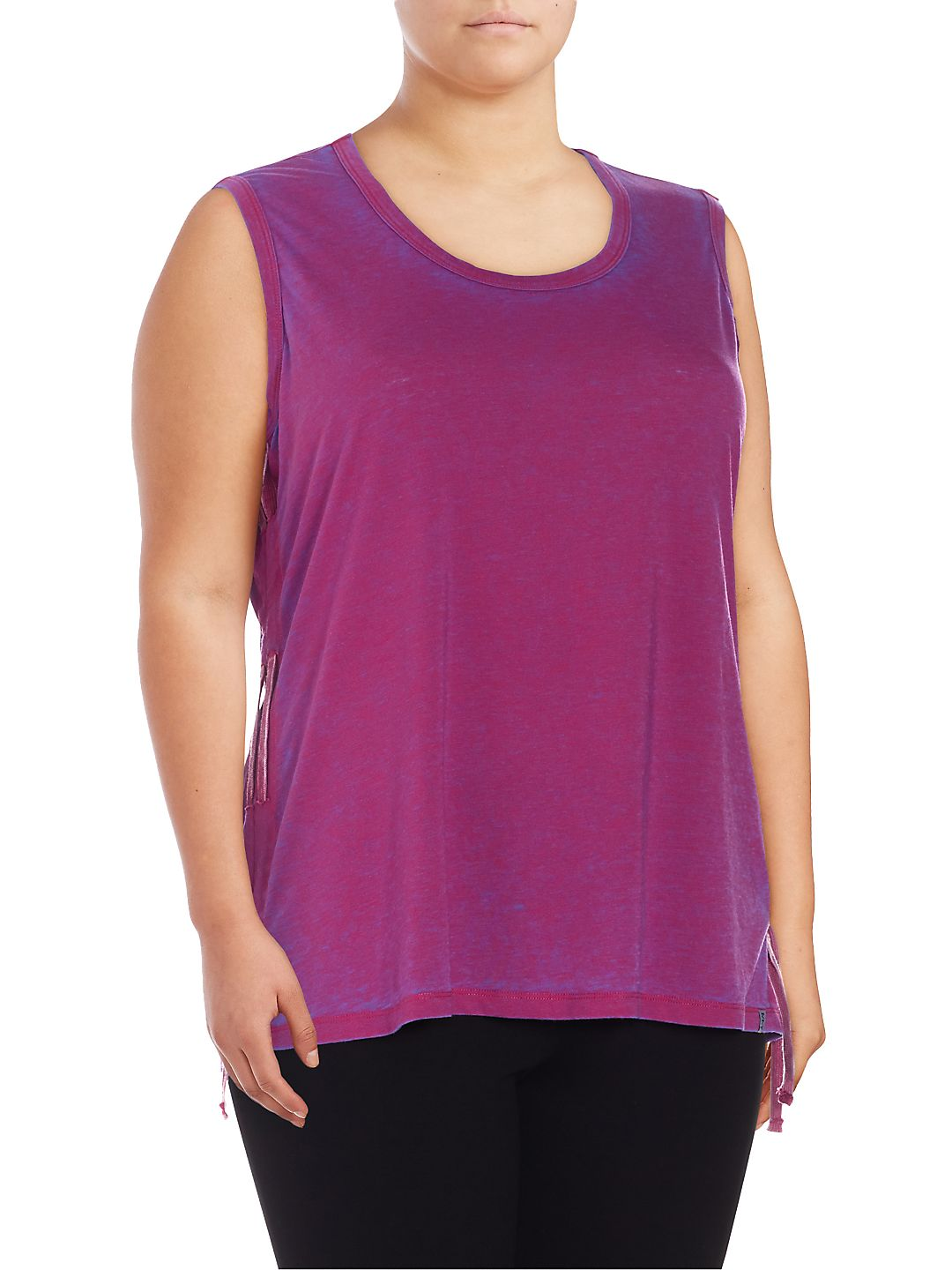 Plus Side-Tie Athletic Tank