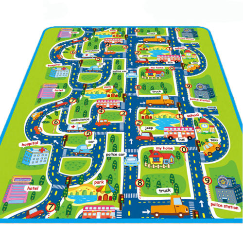 Infant Baby Kids Crawl Playing Fun Game Play Mat Rug Carpet Toy Double Side Letter Game Baby Kid Crawl Play Mat Floor Rug Toddler New 180x100cm
